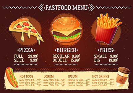 Vektörel Fast Food