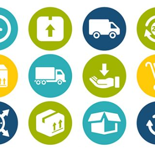Vektörel alışveriş e-ticaret durum ikonları - Delivery-Icon-Set