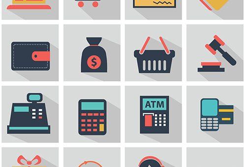 Vektörel alışveriş ikonları indir