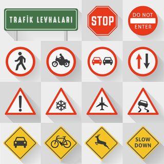 Vektörel Trafik İşaretleri