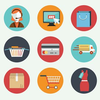 vektorel e-ticaret ikonlari