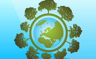 Vektörel Ağaç Dünya Tasarım