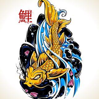 vektorel-balik-tasarim-watercolor-fish-background