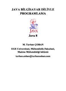Java Bilgisayar Diliyle Programlama Pdf
