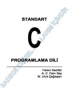 Standart C Programlama Dili Pdf