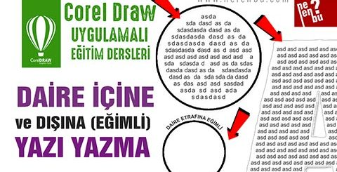 Daire İçine Yazı Yazma - Corel Draw Dersleri