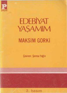 Edebiyat Yaşamım - Maksim Gorki PDF Kitap İndir