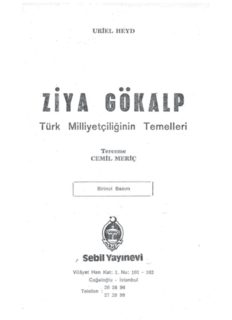 Türk Milliyetçiliğinin Temelleri - Ziya Gökalp - PDF Kitap İndir