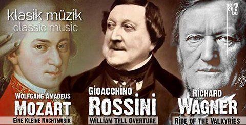 Mozart, Rossini, Wagner Eşliğinde Klasik Müzik Şöleni