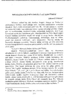 Muallim Nacî'nin Emsâl-i Ali Tercümesi
