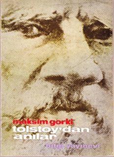 Tolstoy'dan Anılar - Maksim Gorki - PDF Kitap İndir