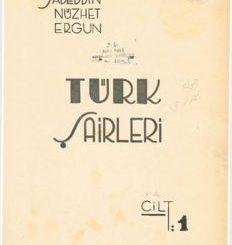 Türk Şairleri Cilt-1 - Sadeddin Nüzhet Ergun Pdf Kitap İndir