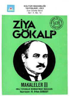 Ziya Gökalp - Makaleler 3 - PDF Kitap İndir