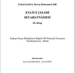 Evliya Çelebi seyahatnamesi yeni baskı 3. Kitap