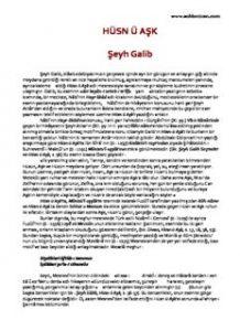 HÜSN Ü AŞK Şeyh Galib - PDF Kitap İndir