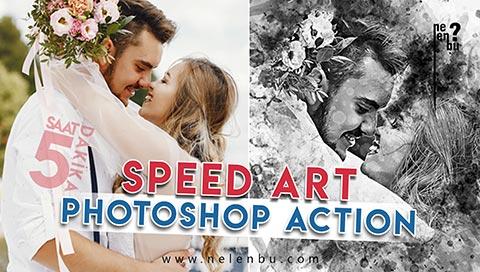 Photoshop Action Speed Art - 5 Saat = 5 Dakika